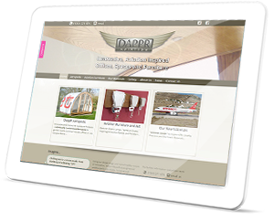 DappR Aviation Web Site on a Tablet
