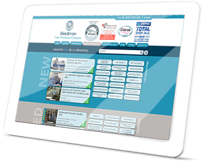 Henderson Food Machinery Web Site on a Tablet