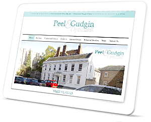 Peel and Gudgin Web Site on a Tablet