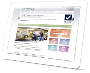 Woolpit Health Centre Web Site on a Tablet